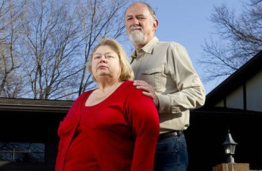 Cheryl and Jim Friedman at their home in St. Louis. (AP Photo/Whitney Curtis)