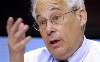 In this April 12, 2012 file photo, former Medicare Administrator Dr. Donald Berwick gestures during an interview with The Associated Press