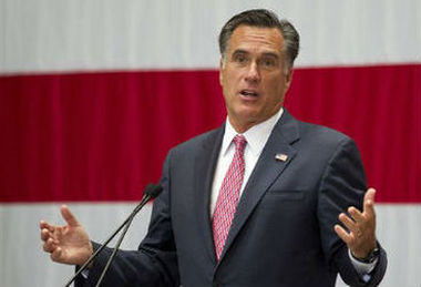 In this June 6, 2012 file photo, Republican presidential candidate Mitt Romney speaks, in San Antonio. (AP Photo/Evan Vucci, File)