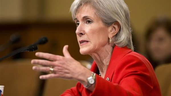 Health and Human Services Secretary Kathleen Sebelius has insisted the exchanges would open on time. (AP Photo/J. Scott Applewhite)