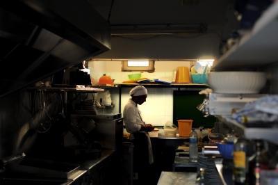 Restaurant worker.