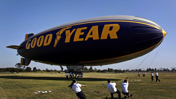 Goodyear's blimp: Easier to bring under control than its DB costs.