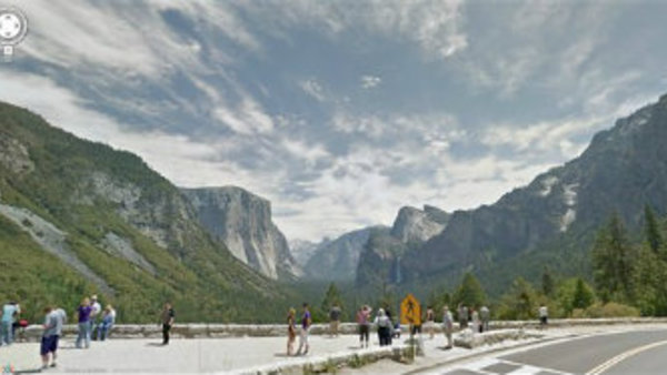 In this undated Street View image provided by Google is Inspiration Point at Yosemite National Park in California. (AP Photo/Google)