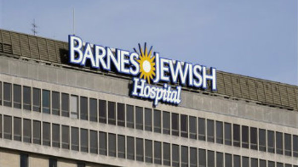 The sign for the Barnes-Jewish Hospital is seen in St. Louis, Monday, March 4, 2013. (AP Photo/Jeff Roberson)
