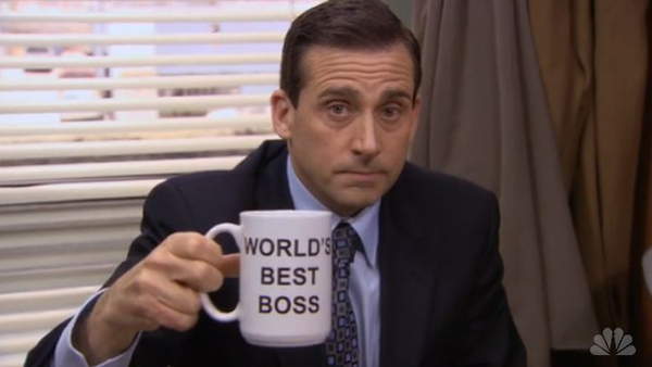 Steve Carell played boss Michael Scott on TV's