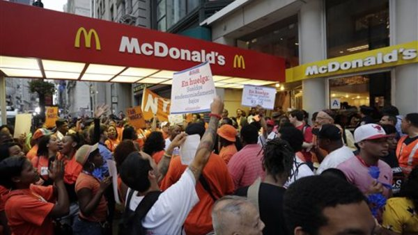 Fast-food workers held protests across the country this year in hopes of seeing an increase in the minimum wage.