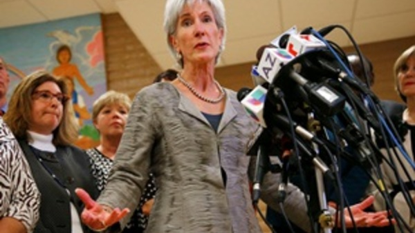 HHS Secretary Kathleen Sebelius (AP photo/Ross D. Franklin)