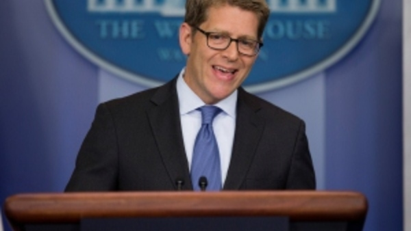 Jay Carney (AP photo/Pablo Martinez Monsivais)
