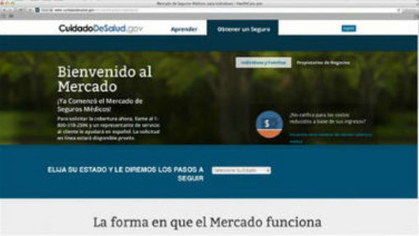 CuidadoDeSalud -- the Spanish-language version of HealthCare.gov (AP photo/U.S. Department of Health and Human Services)