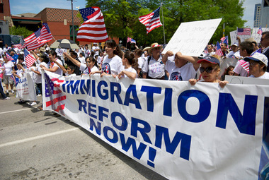 Advocates held repeated rallies in favor of immigration reform in Washington, D.C., last year.