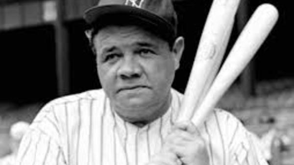 The great Babe Ruth. a Boston Red Sox who moved on to become a New York Yankee.