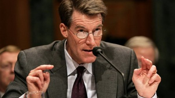 Ex-PBGC chief Bradley Belt, at a 2005 hearing in Washington. Photo: AP.