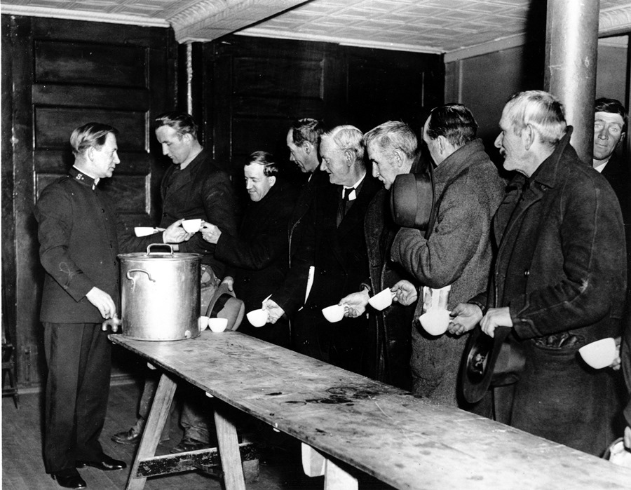 can soup kitchens during the great depression changed