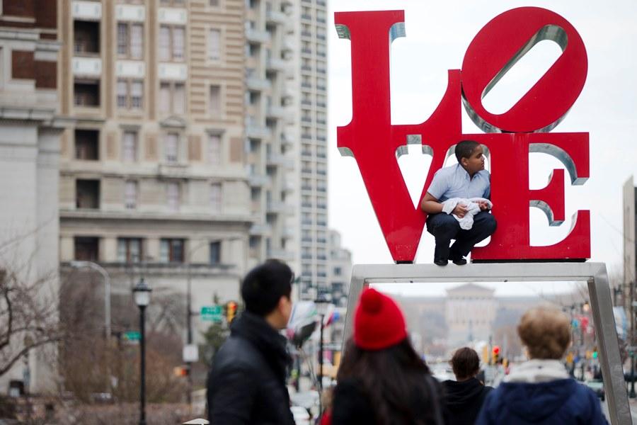 JFK Plaza or Love Park, in Philadelphia (photo: AP)