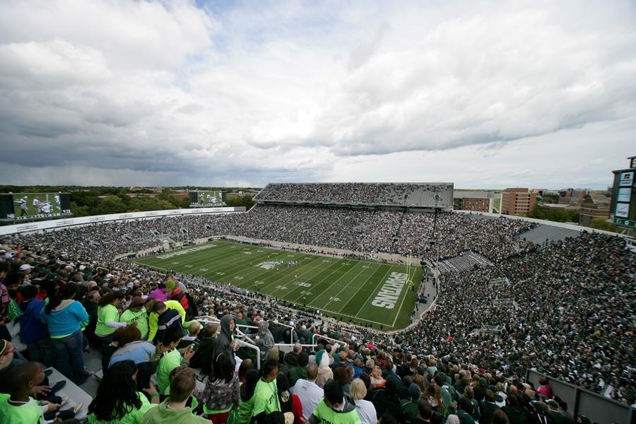 MSU stadium in East Lansing, MI (photo: AP)