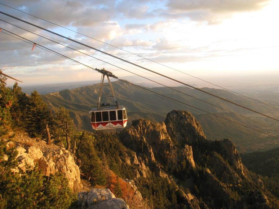 Tram on Sandia Peak above Albuquerque, NM (photo: AP)