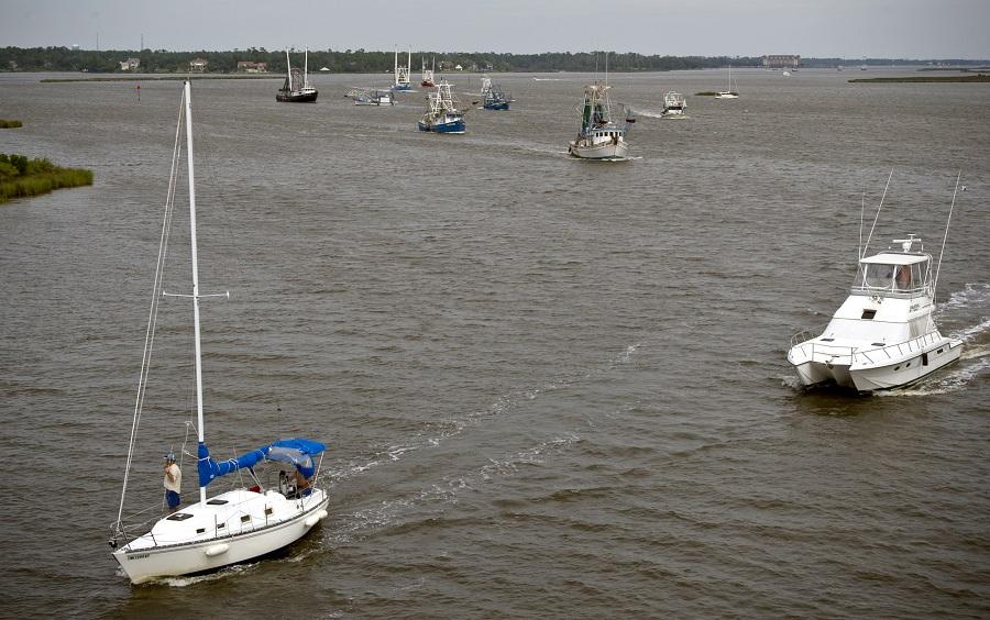 Boats near Biloxi, Mississippi (photo: AP)