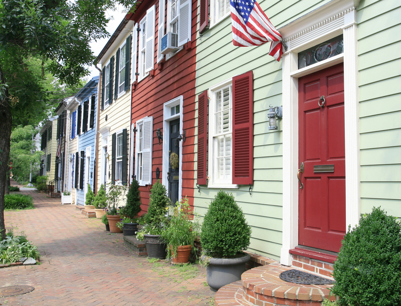 Alexandria, Virginia rowhouses