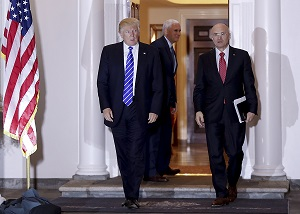 Andrew Puzder and President-elect Trump (Photo: AP)