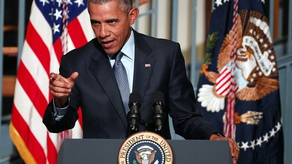 President Obama says the GOP is going down an