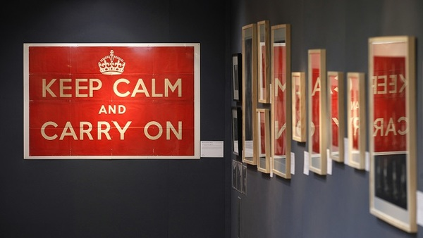 Employers must not panic in the face of ACA changes, just as an original 1939 Ministry of Information 'Keep Calm and Carry On' poster says at Christie's of London. (Photo: AP)