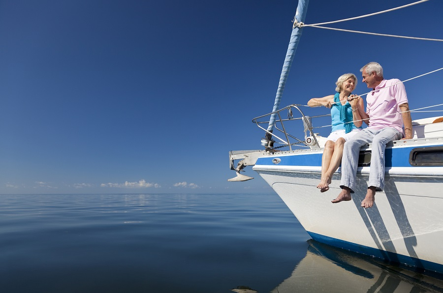 You might live on a boat in early retirement. (Photo: Getty)