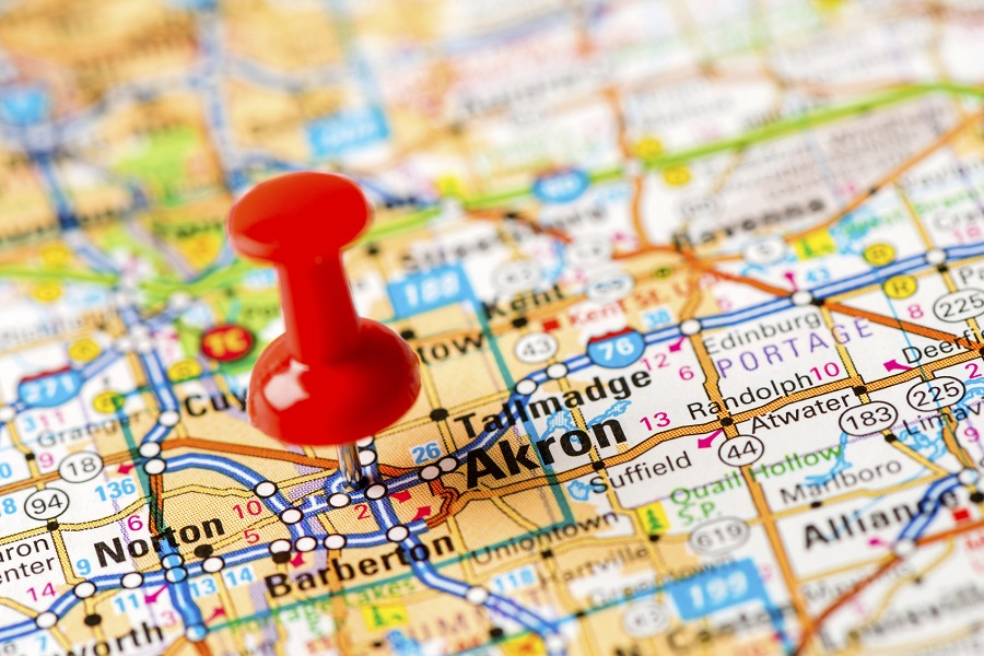 Akron, Ohio was ranked in the top 10 cheapest states to retire in. (Photo: Getty)
