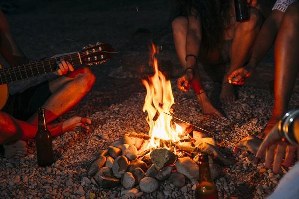Company camping trip
