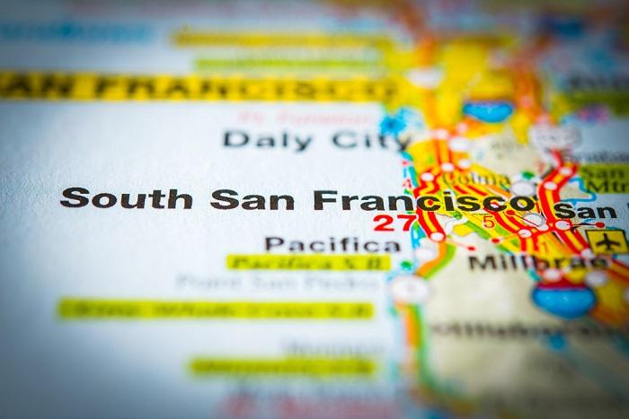 south san francisco map photo shutterstock