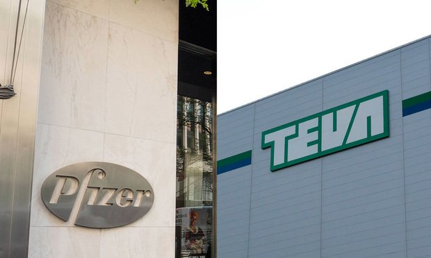 Pfizer, Inc., left, and of Teva Pharmaceuticals USA Inc., right.