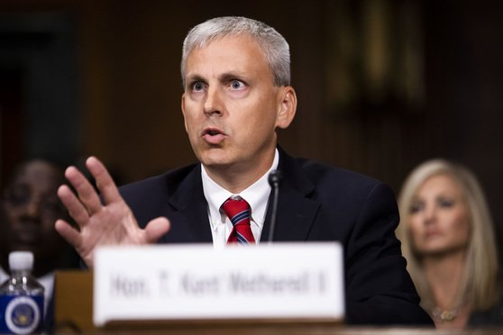 T. Kent Wetherell II testifies before the Senate Judiciary Committee during his confirmation hearing to be U.S. District Judge for the Northern District of Florida, on Wednesday, October 17, 2018.