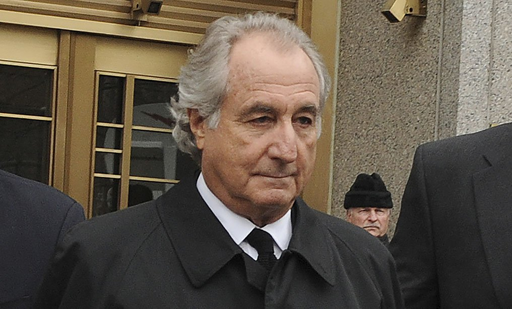 Bernard Madoff exits Manhattan federal court in 2009. Photo: Louis Lanzano/AP