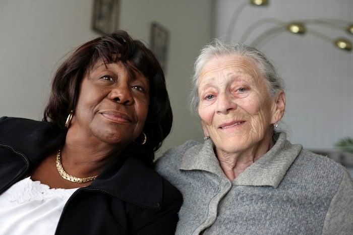 two older women smiling