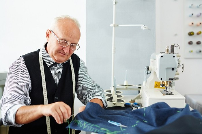 elderly tailor