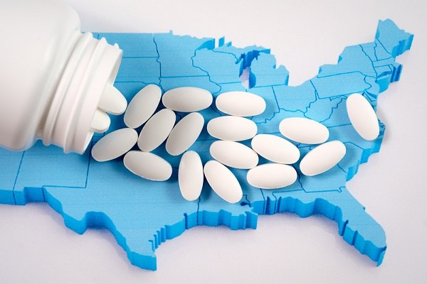 Map with pills