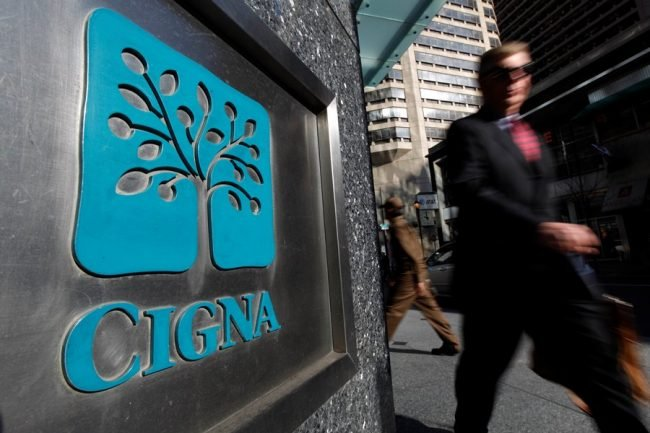 Cigna logo on building