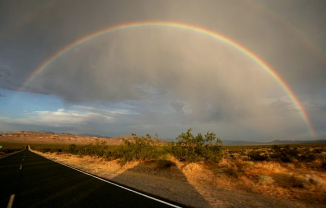 California rainbow near Death Valley