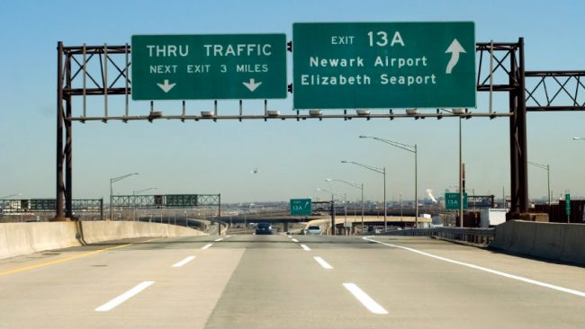 New Jersey highway signs