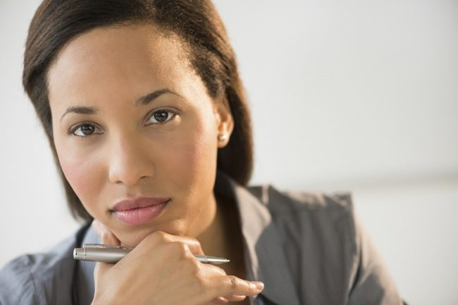 Confidant woman of color