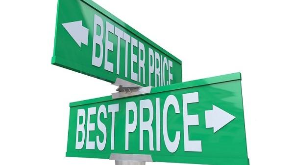 Price comparison street signs