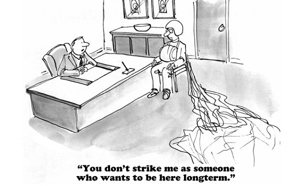 Cartoon of short-term worker
