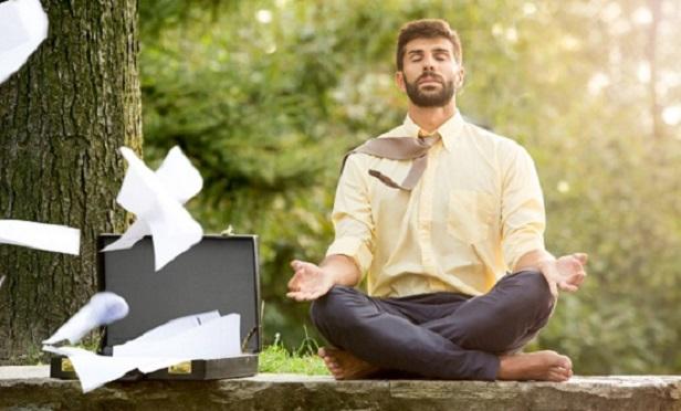 Millennial meditating