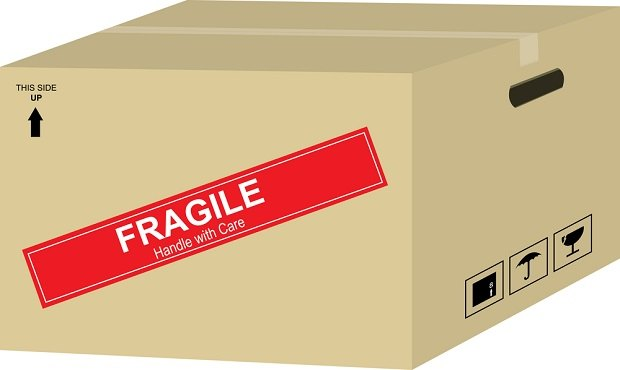 box with Fragile on it