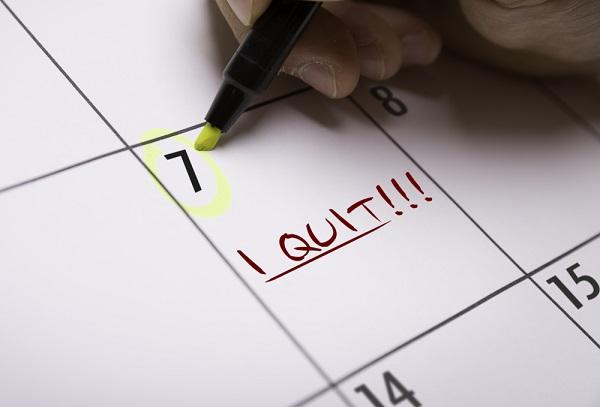 Calendar with I Quit!