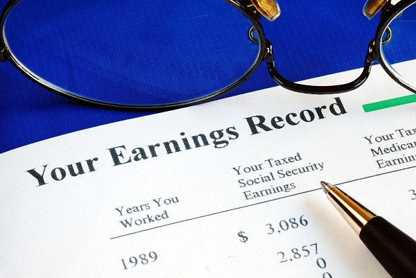 report of Social Security earnings