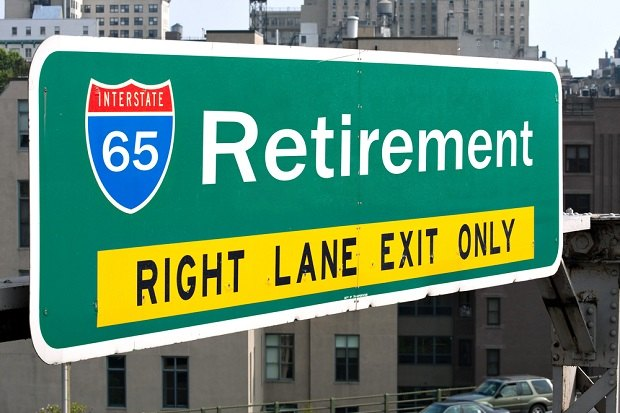 highway sign saying Retirement