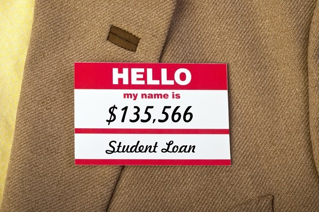 name tag saying student loan