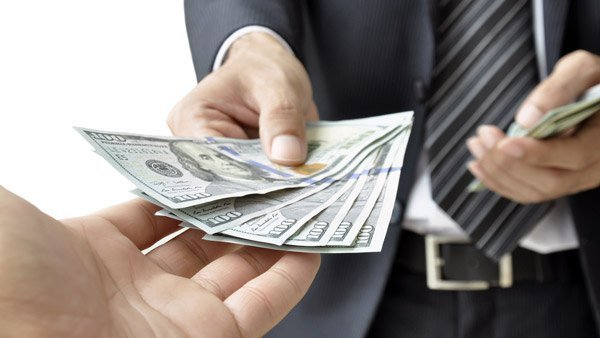 Man handing over money