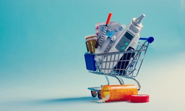 Shopping car with health supplies