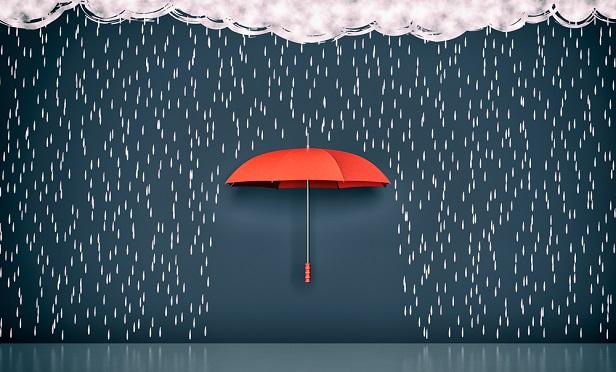 Umbrella protecting from rain